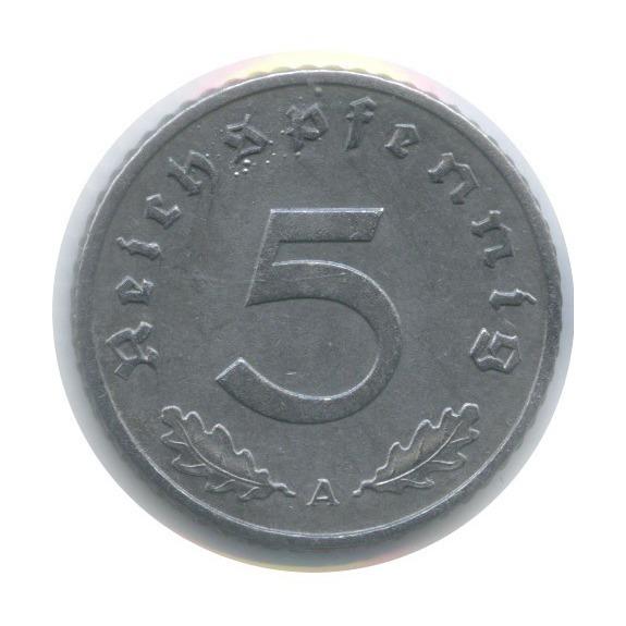 5 рейхспфеннигов (вхолдере) 1943 года A (Германия (Третий рейх))