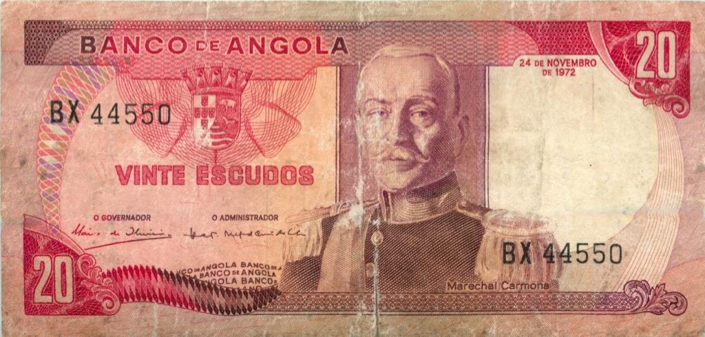 20 эскудо (Ангола) 1972 года