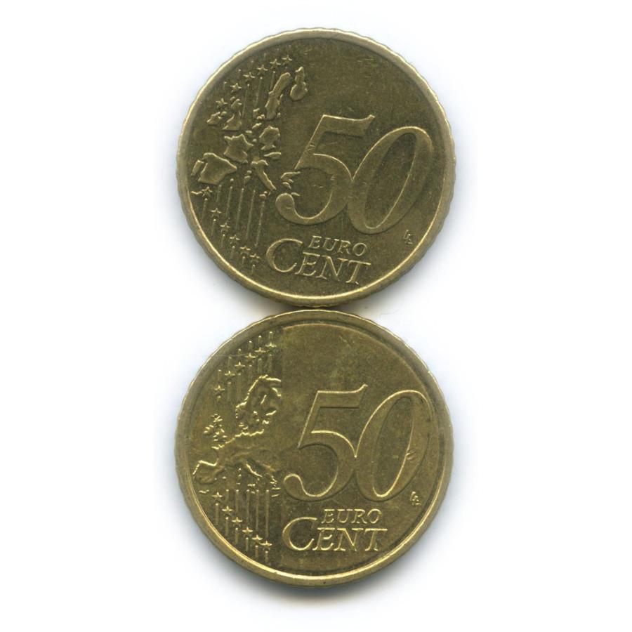 Набор монет 50 центов (Словакия, Ирландия) 2004, 2009