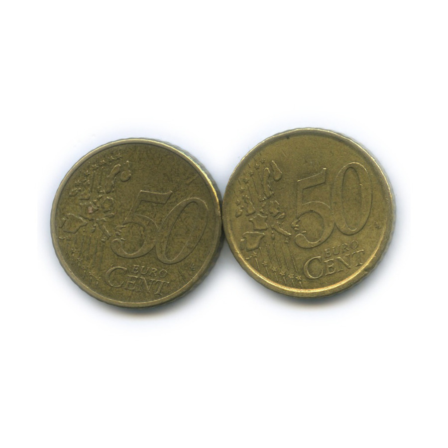 Набор монет 50 центов (Испания, Португалия) 2000, 2002