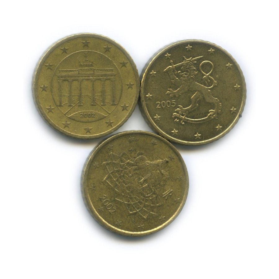 Набор монет 50 центов (разные страны)