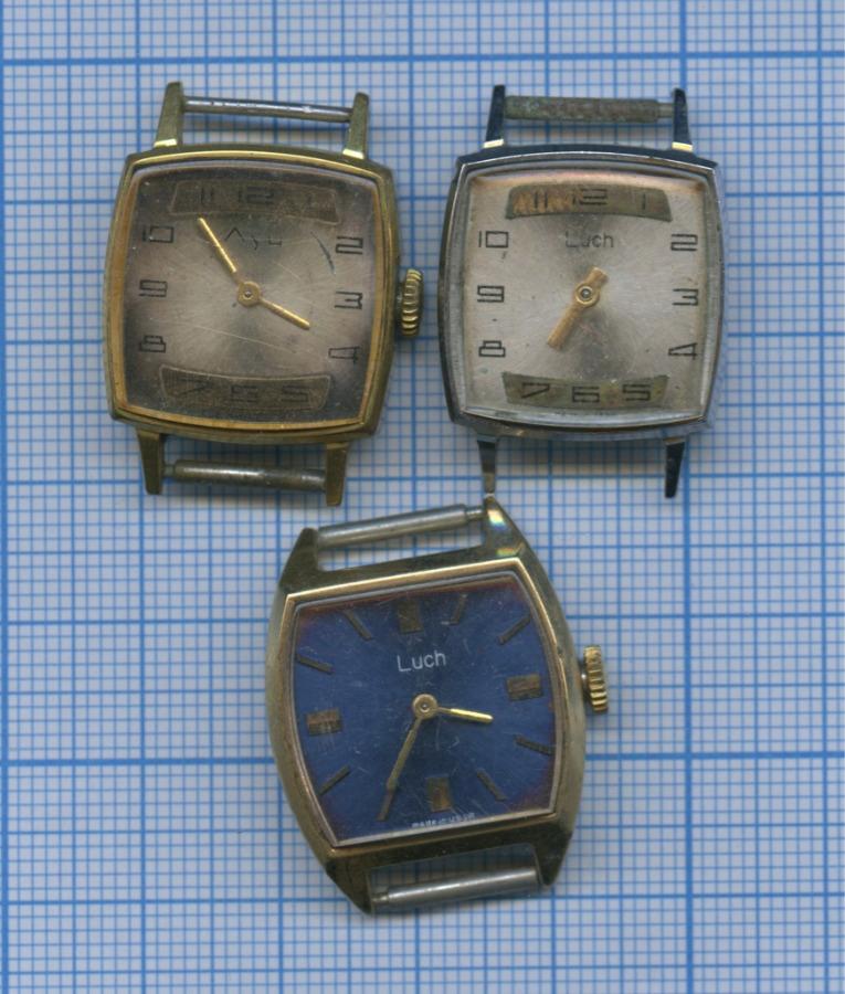 Набор наручных часов «Luch» (без ремешков, механика) (СССР)