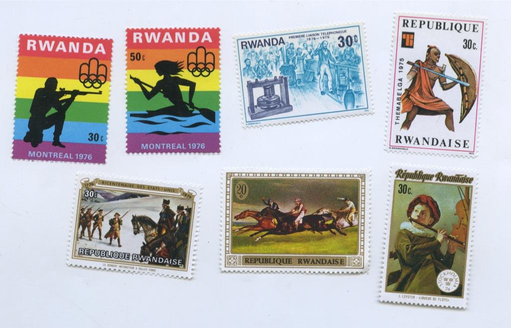 Набор почтовых марок (Руанда)
