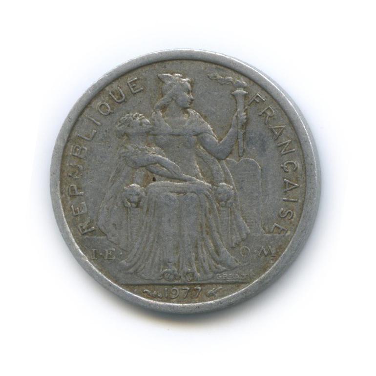1 франк, Французская Полинезия 1977 года