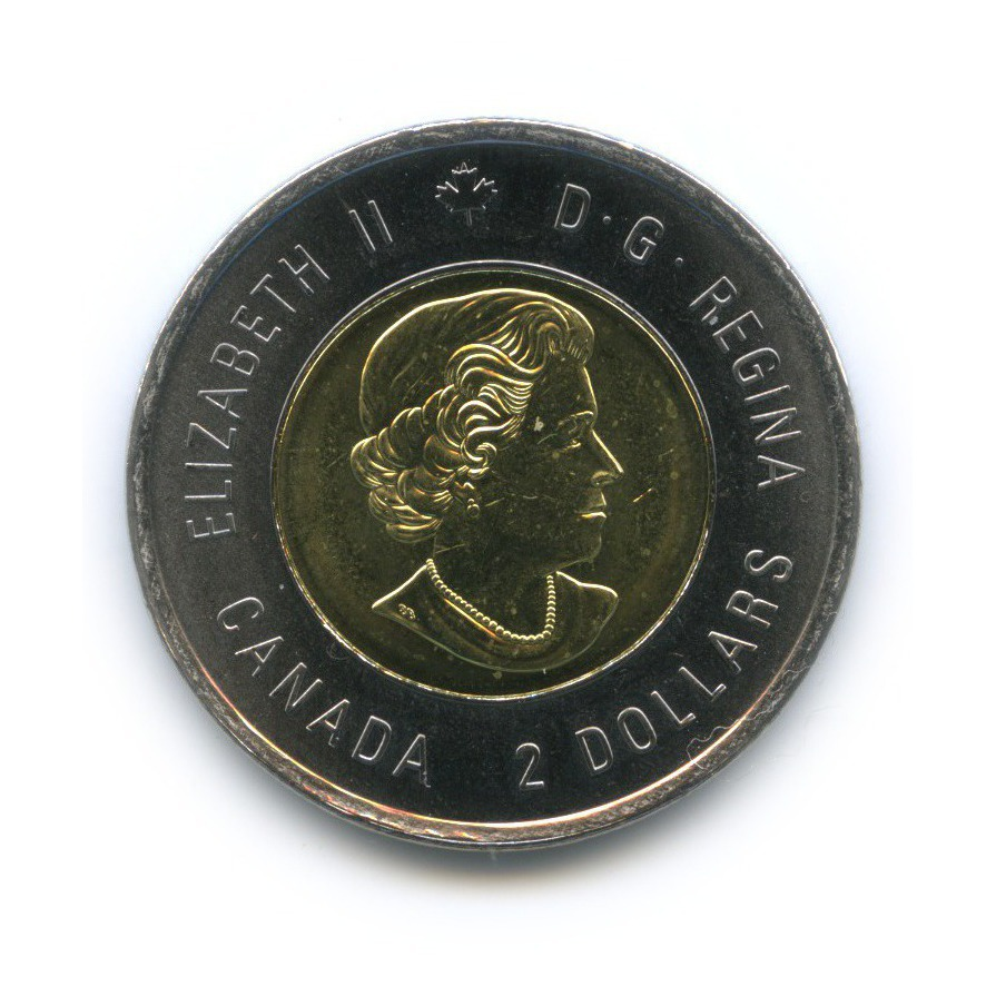 2 доллара - 200 лет содня Рождения Джона Макдональда 2015 года (Канада)