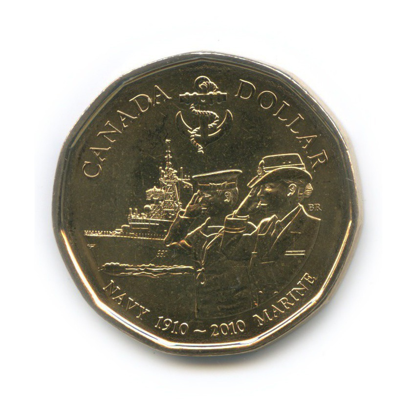 1 доллар — 100 лет королевскому флоту Канады 2010 года (Канада)