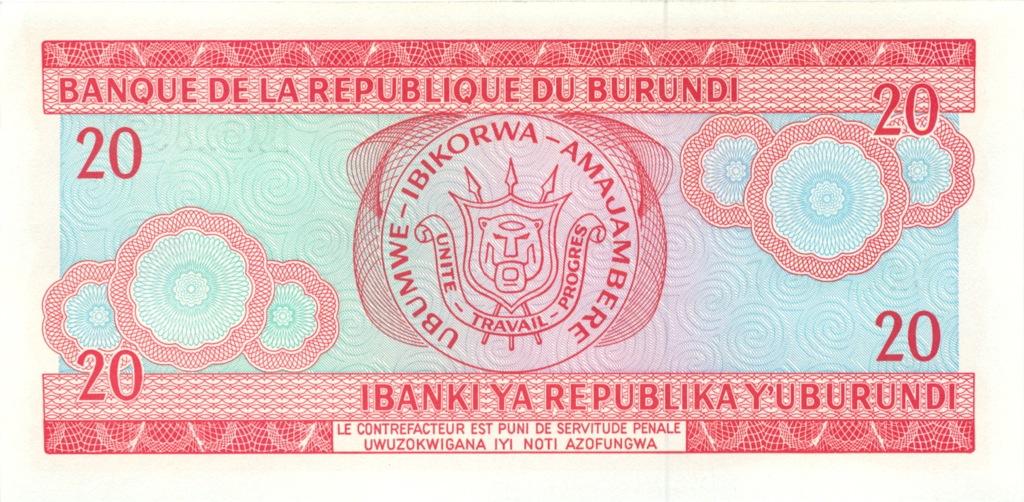 20 франков (Бурунди) 2007 года