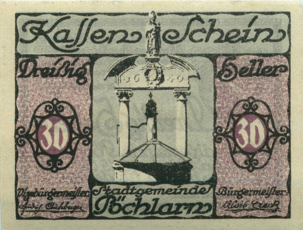 30 геллеров (нотгельд) 1920 года (Австрия)