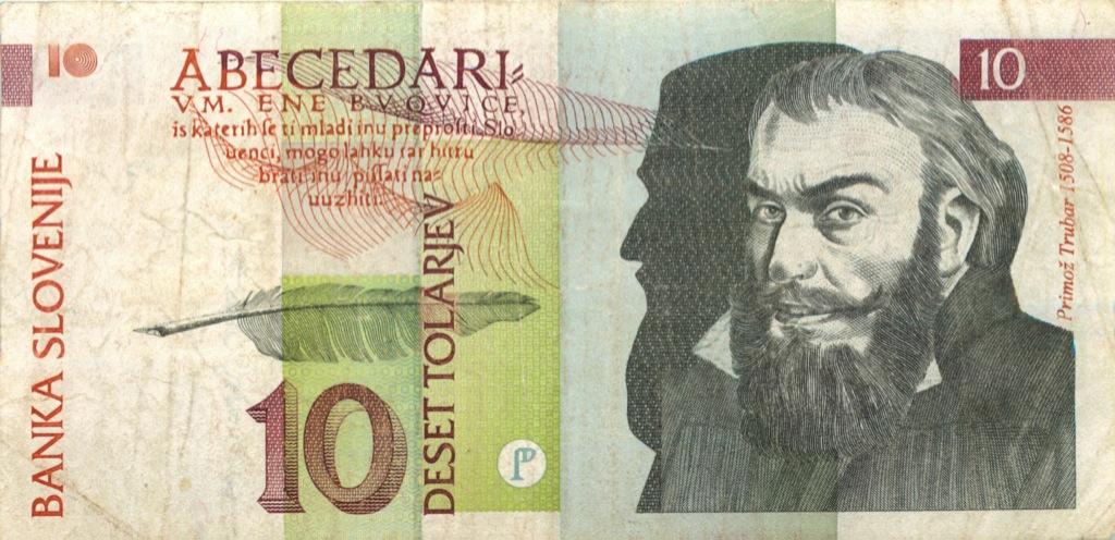 10 толаров 1992 года (Словения)