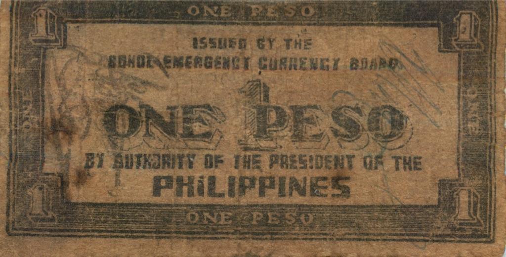1 песо (о-в Бохоль) 1943 года (Филиппины)