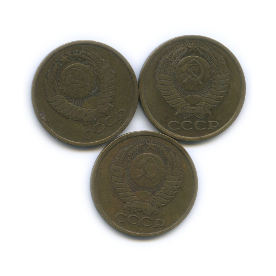 Набор монет 5 копеек 1980-1982 (СССР)
