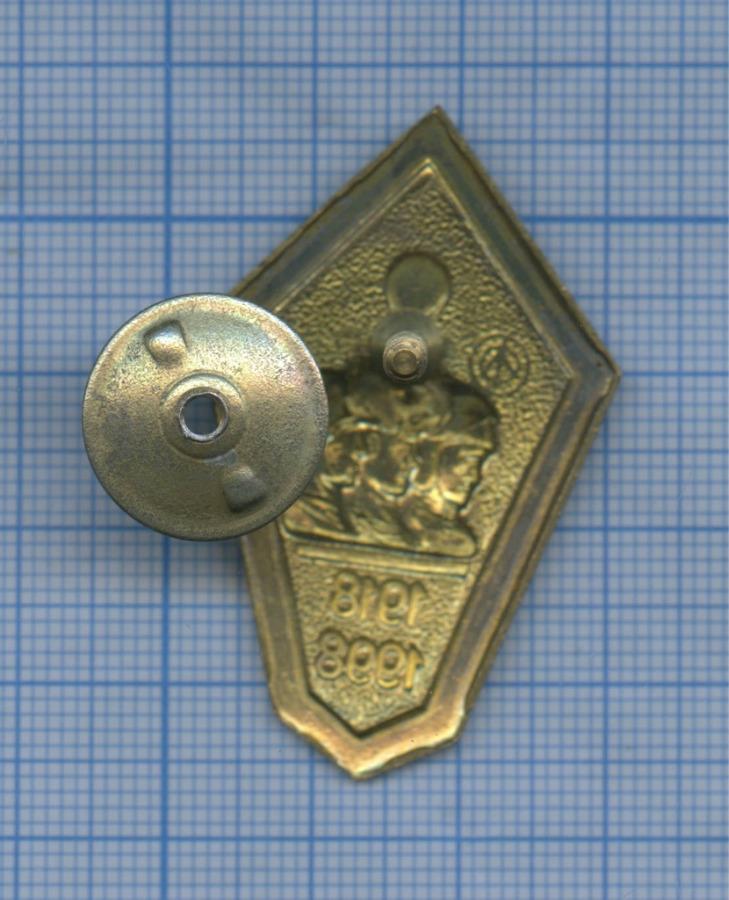 Знак нагрудный «80 лет вооруженным силам, 1918-1998» (Россия)