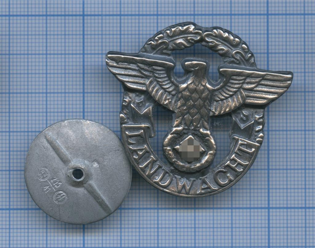 Знак Вспомогательной Полиции «LANDWACHT» (копия) (Германия (Третий рейх))