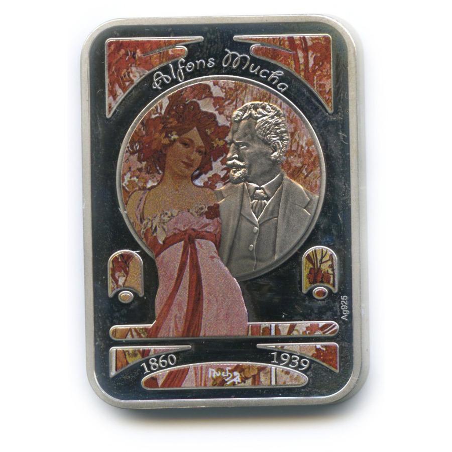 1 доллар - Картины художника Альфонса Муха, о. Ниуэ (цветная эмаль) 2010 года