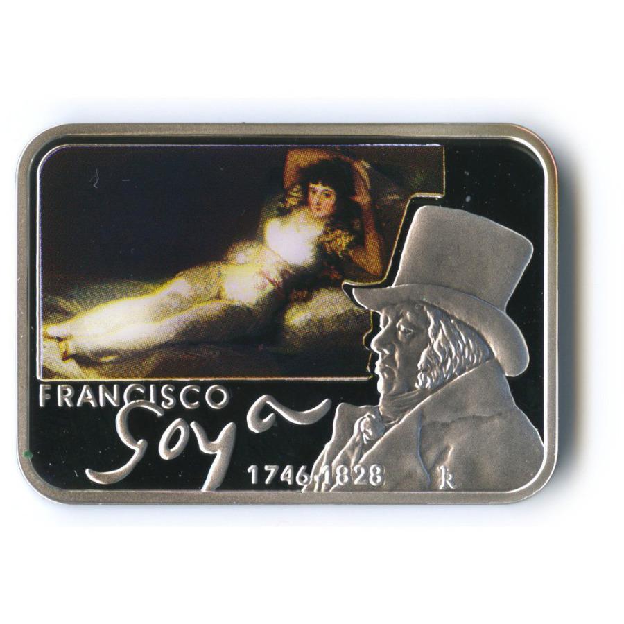 1 доллар - Картины художника Франсиско Гойя, о. Ниуэ (цветная эмаль) 2010 года