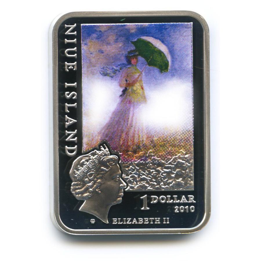 1 доллар - Картины художника Клода Моне, о. Ниуэ (цветная эмаль) 2010 года