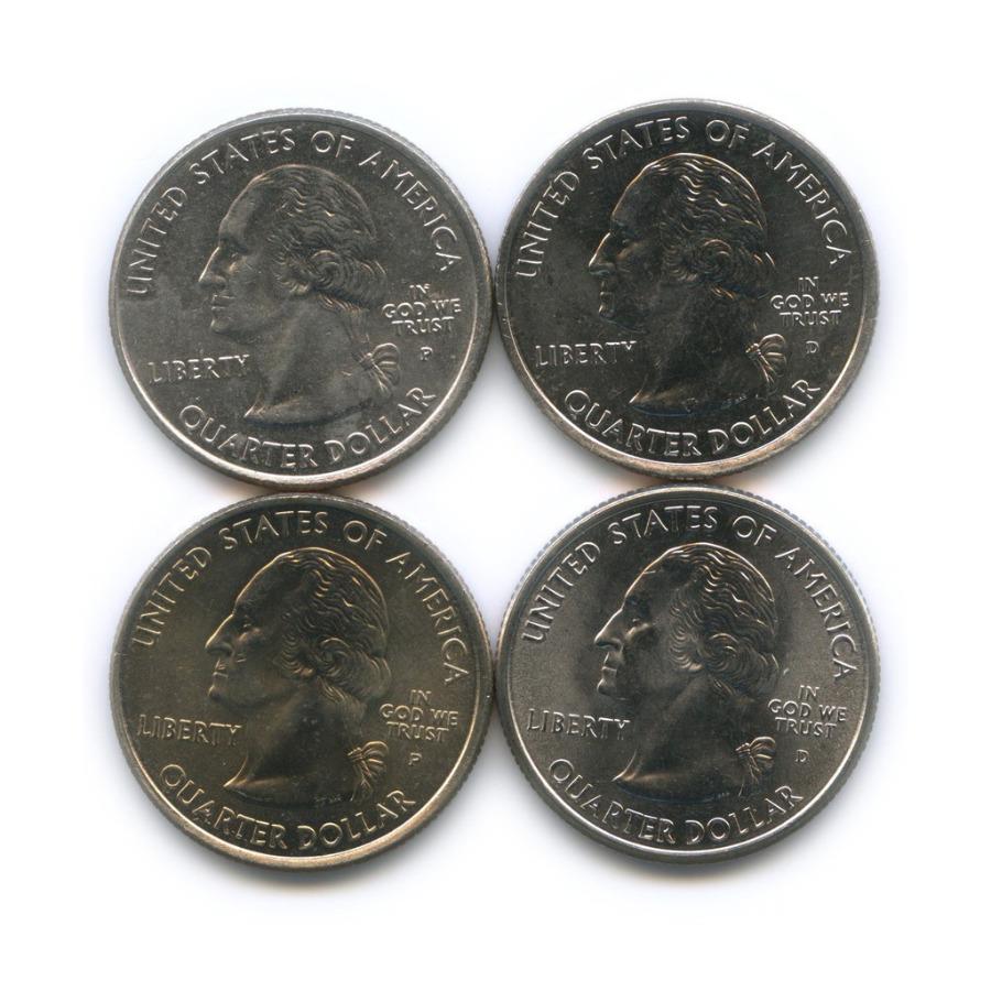 Набор монет 25 центов (квотер) - Штаты итерритории 2001, 2002 (США)