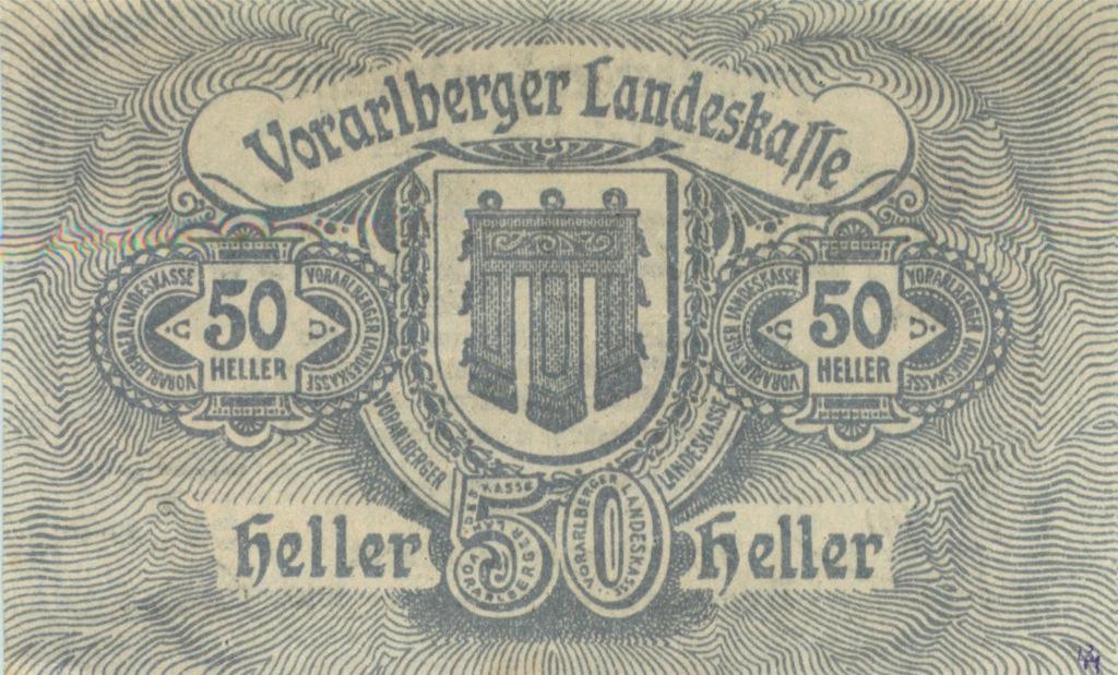 50 геллеров (нотгельд) 1919 года (Австрия)