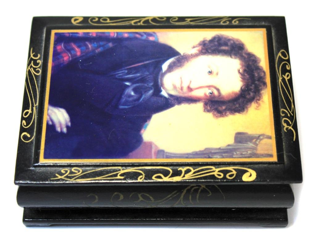 Шкатулка «А.С. Пушкин» (10×7,5 см) (Россия)