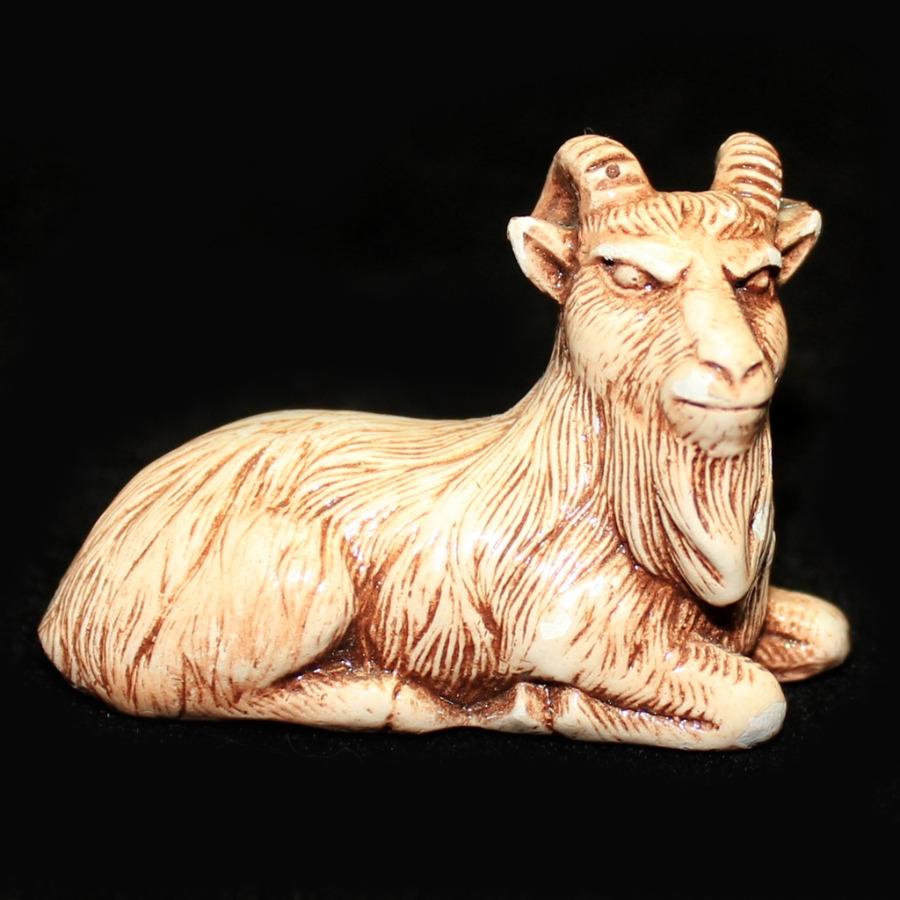 Фигурка-нэцкэ «Козел» (3×4,5 см)