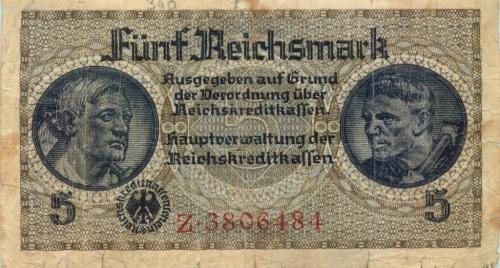 5 рейхсмарок 1939-1945 (Германия (Третий рейх))
