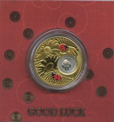 2 доллара - Счастливые монеты - Божья коровка, Остров Ниуэ (ссертификатом) 2013 года