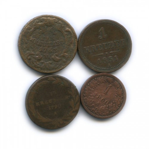 Набор монет 1 крейцер (Австрия)