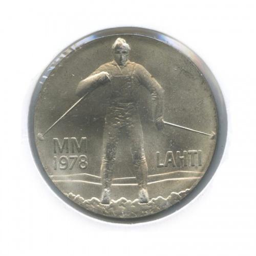 25 марок — Зимние игры вЛахти (в холдере) 1978 года (Финляндия)