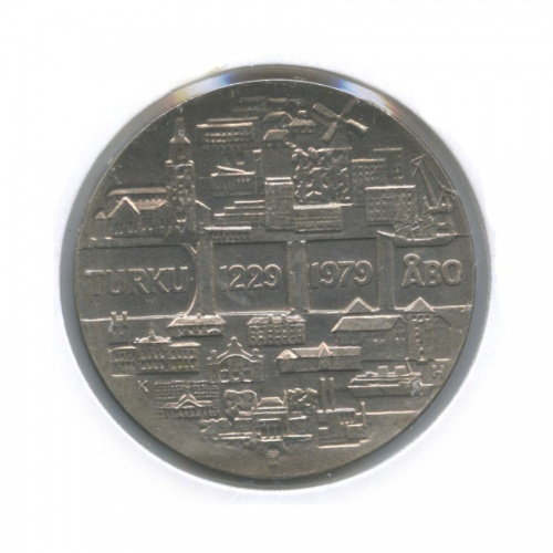 25 марок — 750 лет Турку (в холдере) 1979 года (Финляндия)