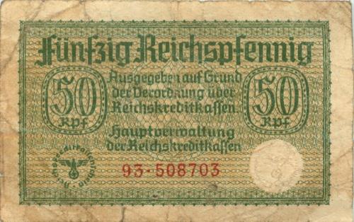 50 рейхспфеннигов 1939-1945 (Германия (Третий рейх))