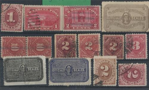 Набор почтовых марок 1880-1900 (США)