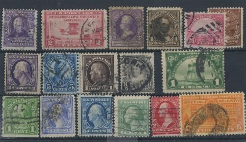 Набор почтовых марок 1890-1900 (США)