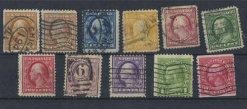 Набор почтовых марок 1908 года (США)