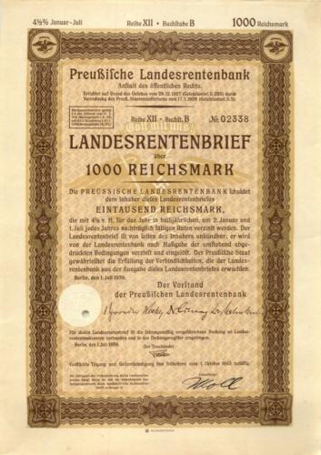 1000 рейхсмарок 1943 года (Германия (Третий рейх))