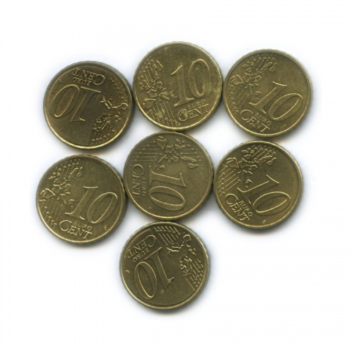 Набор монет 10 центов (разные страны)