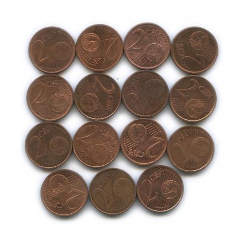 Набор монет 2 цента (разные страны)