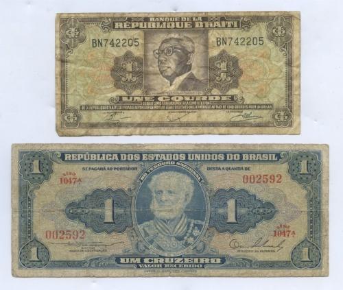 Набор банкнот (Гаити, Бразилия)