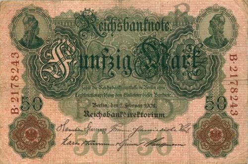 50 марок 1908 года (Германия)