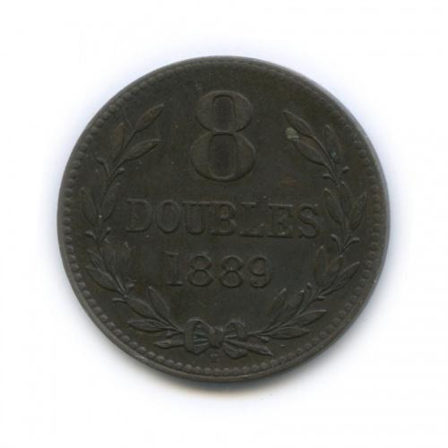 8 дублей, о. Гернси 1889 года