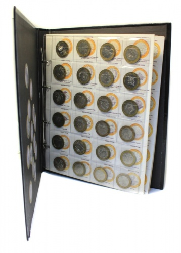 Набор юбилейных монет 10 рублей (кроме ЧЯП, вальбоме, 107 шт.) (Россия)