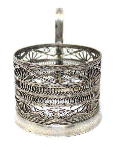 Подстаканник (скань, серебрение, клеймо) МК7 (СССР)