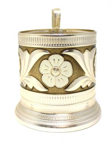 Подстаканник «Цветок» (эмаль, новый) (СССР)