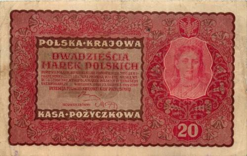 20 марок (оккупация Польши) 1919 года (Германия)