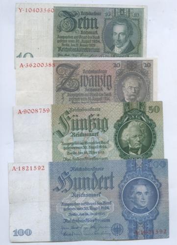 Набор банкнот 1929-1935 (Германия)