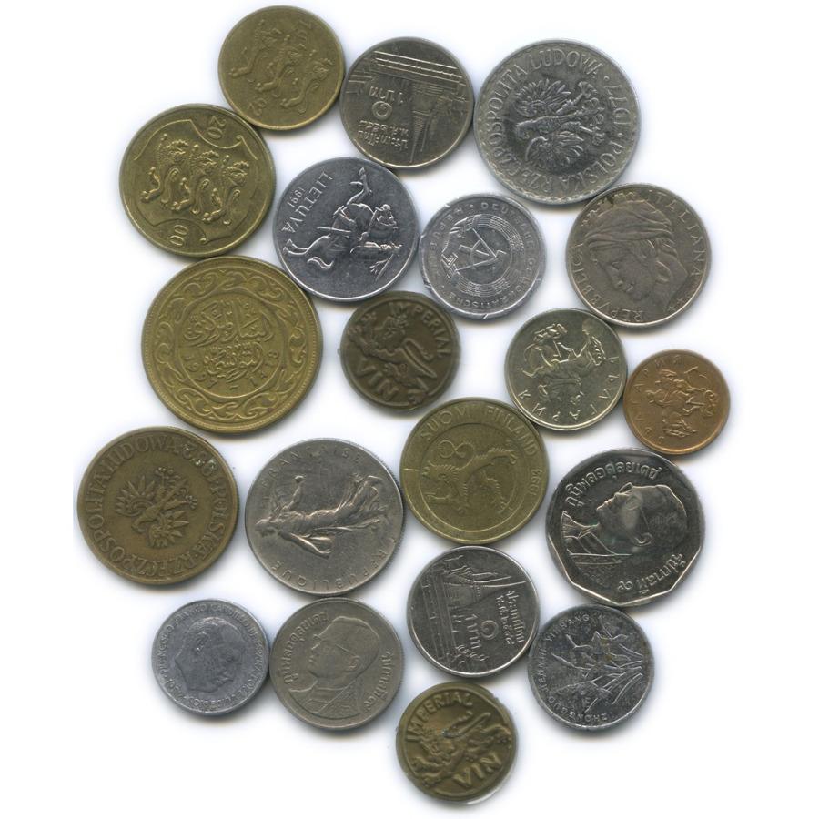 Набор монет сжетонами (разные страны)