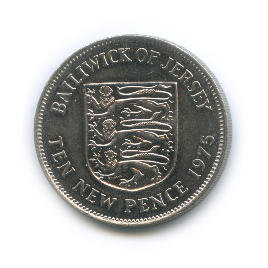 10 новых пенсов, Джерси 1975 года