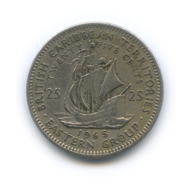 25 центов, Британские Карибские территории 1965 года