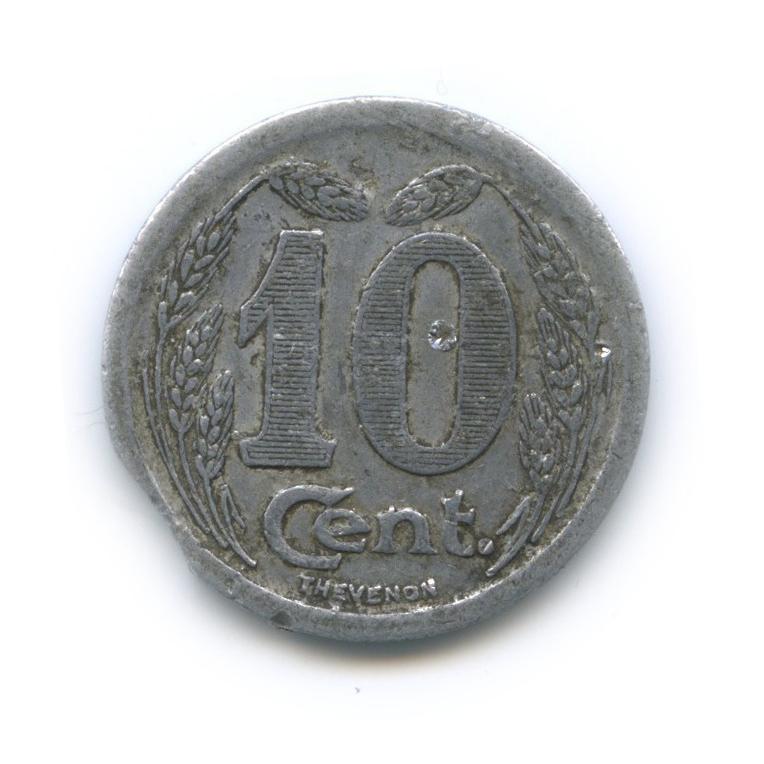 10 сантимов (токен города Эврё) 1921 года (Франция)