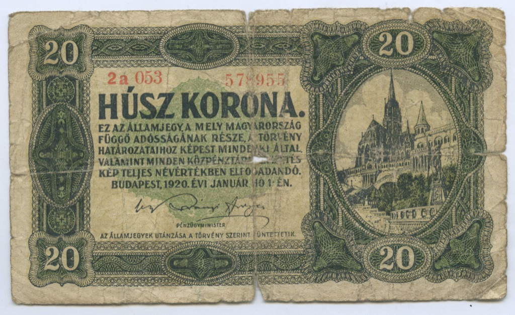 20 крон 1920 года (Венгрия)