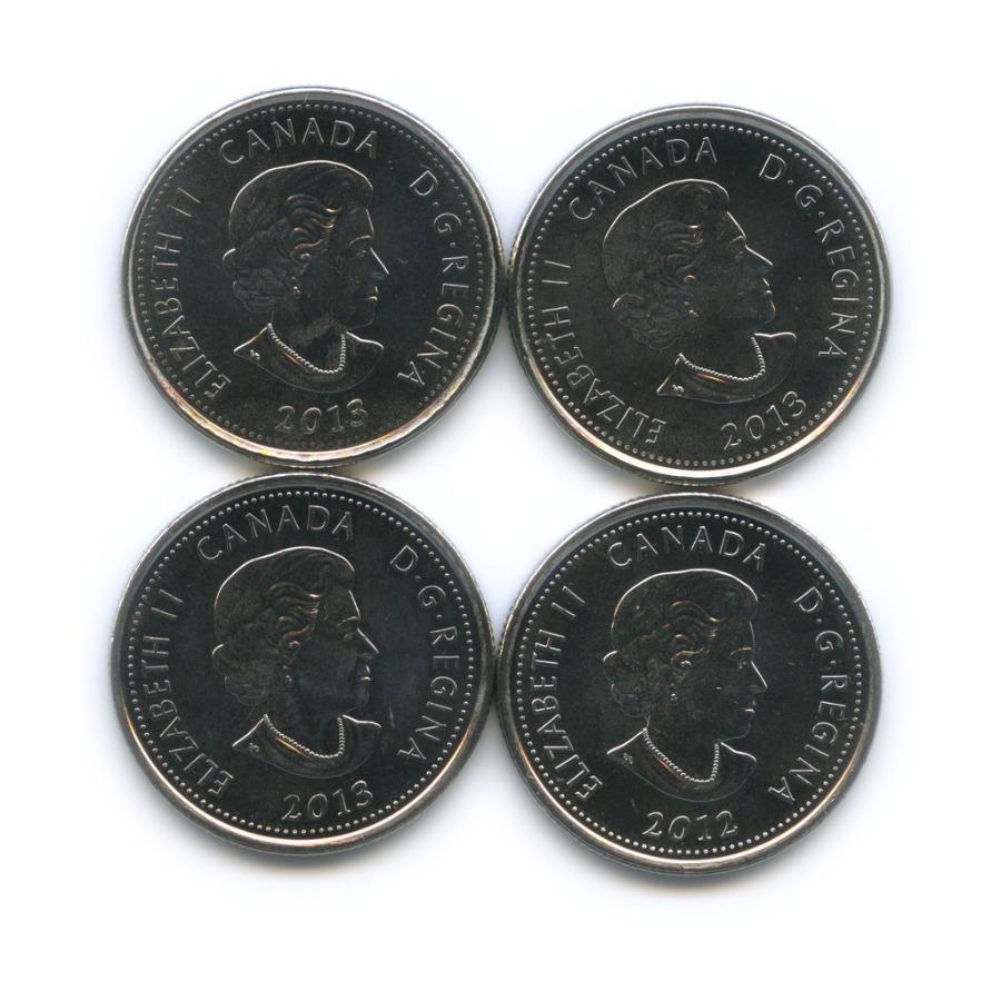 Набор монет 25 центов - Война 1812 года 2012, 2013 (Канада)